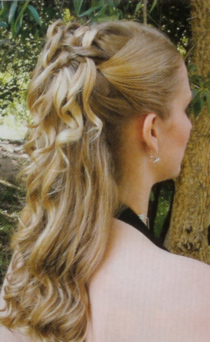 prom hairstyles half up half down with braid. and the half up half down